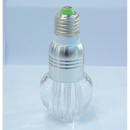 3W E27 Crystal Glass Umbrella 16 Color Change RGB LED Light Bulb Lamp W/remote  Control
