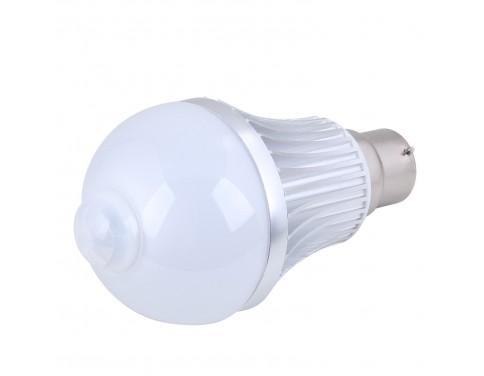 8w Motion Sensor A19 G60 B22 LED Light Bulb Energy Saving Pir LED Lamp, 24 Hours Mode, Cool White,LED Smart Bulb