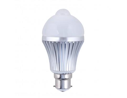 6w PIR LED bulbs, B22 Bayonet Base, Motion Sensor Light Bulbs, 24 Hours Mode, Cool White,LED Smart Bulb [Energy Class A+]