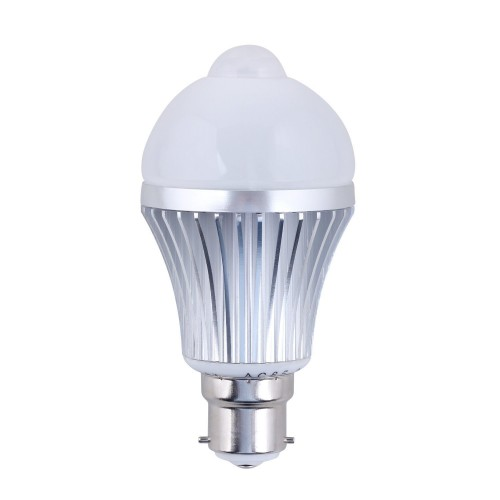 light sensitive pir led light bulb automatic motion sensor activated. Black Bedroom Furniture Sets. Home Design Ideas
