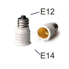12 Pack/lot E12 to E14 White Bulb Converter LED Light Holder Lamp Adapter Socket Changer High Quality