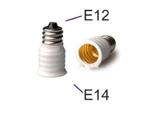 12 Pack/lot E12 to E14 White Bulb Converter LED Light Holder Lamp Adapter Socket Changer High Quality