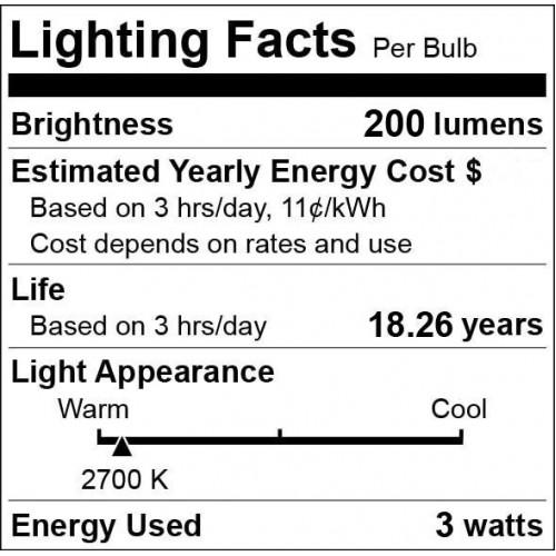 AC/DC 12V 12 Volt 3W 1W x 3 cluster LED light bulb E26 E27 PAR16
