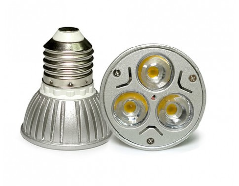 AC/DC 12V 12 Volt 3W 1W x 3 cluster LED light bulb E26 E27