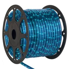 "150' Blue Rope Light, 2 Wire 1/2"", 120 Volt"