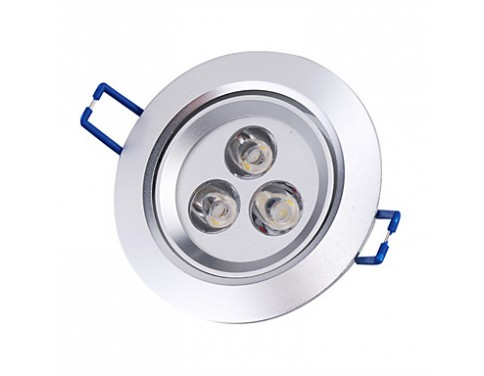 3 W 3 High Power LED 250 LM Warm White Recessed Retrofit Recessed Lights/Ceiling Lights AC 85-265 V
