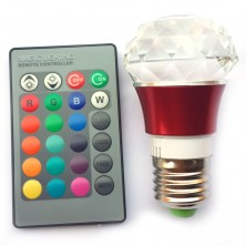 3 Watt RGB Atmosphere Decorative Lights Crystal Lamps Light Distribution on the Remote Control