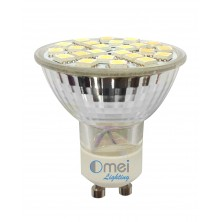 4-Pack Brightest SMD LED Gu10 Bulbs 24p 5050 Spotlight Gu10 Pack Cool White Wide Angle [Energy Class A]