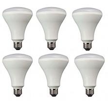 Embedded kitchen LED bulb, 65 watt equivalent, non adjustable light, soft white, 6 Pack