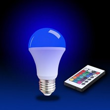 5w LED Color RGB Bulb Light Remote Controlled Color Changing 16 Color Choice , E27 LED Color Bulbs Light Pack of 2