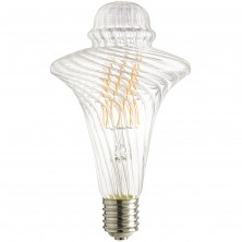 LED/AQ/12W/DIM/22K LED Antique Filament Style 100W Equivalent Chimney Vintage Light Bulb with 2200K Mogul (E39) Base Clear Dimmable