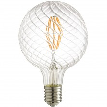 G48/LED/SG/AQ/12W/D/22K/MOG LED Antique Filament Style 100W Equivalent G48 Globe Vintage Light Bulb with 2200K Mogul (E39) Base Clear Dimmable, Warm White