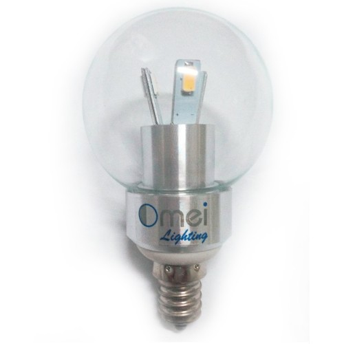 LED 3W E12 Candelabra Base Candle Light 40watt Chandelier Globe Bulb ...