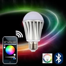 Lagute iOS App Bluetooth Control RGBW Color Magic LED Smart light Lamp Bulb 7W