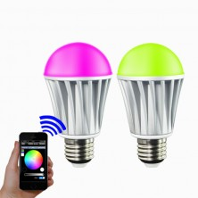 iOS Android App WiFi Phone Control RGBW Color Magic LED Smart light Lamp Bulb 7W