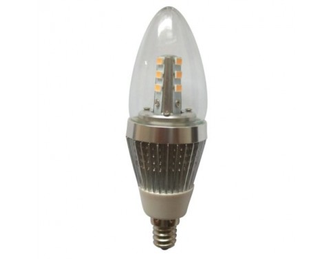 5W E12 6-Pack LED candle bulbs for crystal chandeliers candelabra base bulb