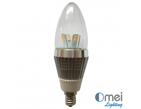 10piece LED E12 candle globe 110V 3w halogen light Bulb CE RoHS Bullet Top