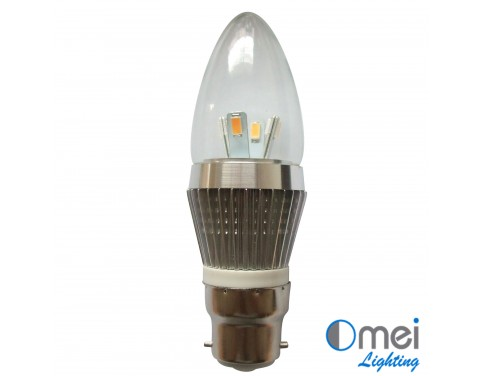 10piece LED B22 candle globe 3w halogen light Bulb CE RoHS Bullet Top