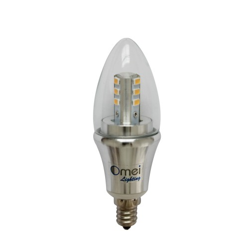 Led Candelabra Bulb Daylight Dimmable 6 Pack Omailighting E12 6w 60w 60 Watts Led Bulb Bullet Top
