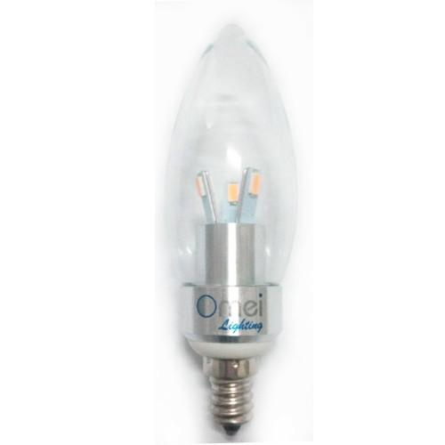 Led Candelabra Base: 4 Pieces LED 3W E12 Candelabra Base Warm White 2700K