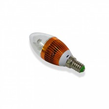 3W E14 AC110-240V Warm White Candle Bulb