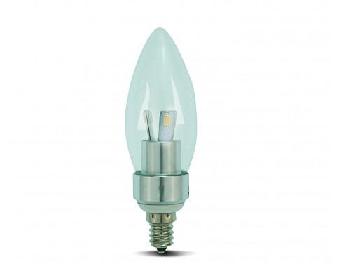dimmable e12 base led candelabra bulb 3w blunt tip warm white. Black Bedroom Furniture Sets. Home Design Ideas