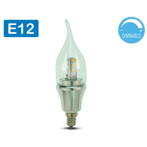 led candelabra bulb daylight dimmable 6 pack omailighting e12 6w 60w. Black Bedroom Furniture Sets. Home Design Ideas