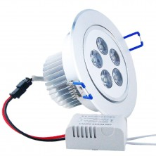 LED Down Lamp 5W 450-500Lm Warm White(100-240V,Silver)