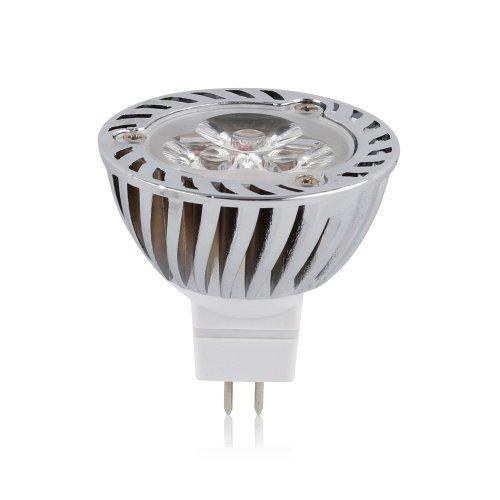 10 pieces 4w 12v mr16 super bright led light bulbs cool white 6000k more efficient than cfl. Black Bedroom Furniture Sets. Home Design Ideas