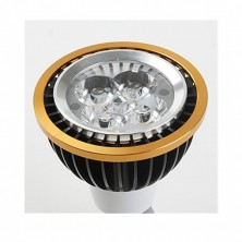 Free Shipping LED Spot Bulb E14 4W 0-350LM Cool White Dimmable(AC220V,Black+Golden)