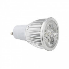 LED Spot Bulb GU10 5W 0-400LM Warm White Dimmable(AC110V,Silver)