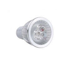 LED Spot Bulb GU10 6W 0-350LM Warm White Dimmable(AC110V,Silver)