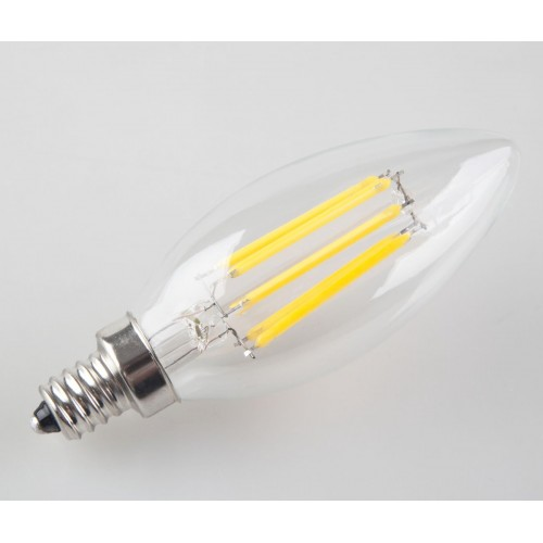 6w non dimmable led filament candle light bulb 2700k warm white 600lm e12 can. Black Bedroom Furniture Sets. Home Design Ideas