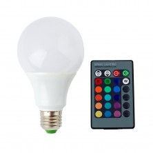 Hot Fashion 110-220v 5w (30w) E27 Color Change RGB LED Light Bulbs Lamp with Remote Controller Home Bulb Lights ,Office Bulb Lights ,Party Bulb Lights