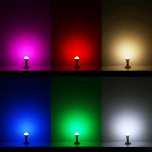 Remote controlled color changing a19 5w led light bulb 16 - Color changing room lights ...