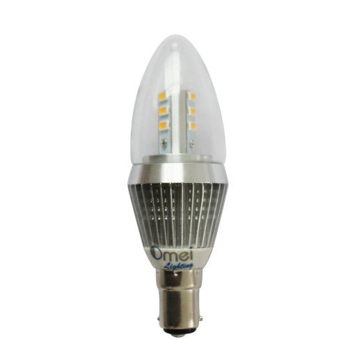 Dimmable B15 LED Candle Bulbs Bayonet Small Bayonet 7W Clear Cover 3850 -  4250k Daylight Color 360 Degree Lighting