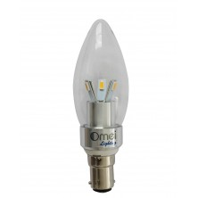 4-Pack LED 40w B15 LED Candle lamp Small Bayonet 3w 360 degree light chandelier Light bulbs