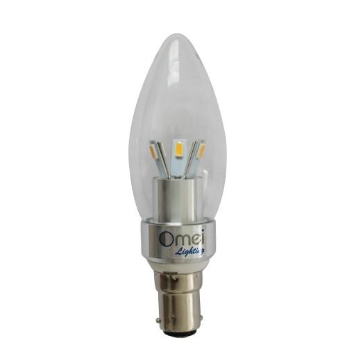 4-Pack LED 40w B15 LED Candle lamp Small Bayonet 3w 360 degree light  chandelier Light bulbs