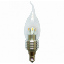 6-Pack LED Candle Bulb Dimmable 5 Watt E14 Base for Chandeliers Light Bulb Flame Bent Tip Cool white 5500-6000k