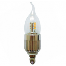 Flame Tip 6-Pack LED Candle Bulb Dimmable 7 Watt E14 Base for Chandeliers Light Bulb Warm White 3000k