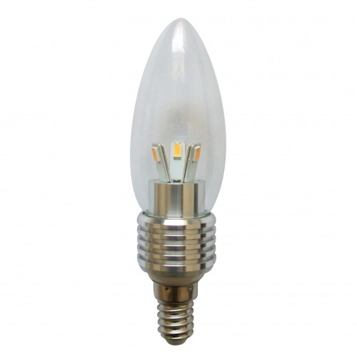 Led Candle Bulb Dimmable 5 Watt E14 Base For Chandeliers