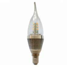 LED Light 7 Watt E14 Base LED Candle Bulb 60w 60watt Flame Bent tip Chandelier Light Bulbs