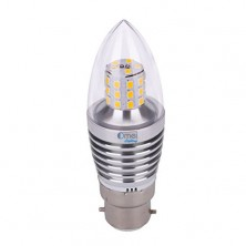 6-Pack 7w B22 LED Candle Bulb Bayonet 60w, Brightest LED Candle Bulb in Market, Warm White, B22 Bayonet Base