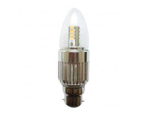 Dimmable Led 7w B22 Candle Bulbs Bayonet Candelabra Light
