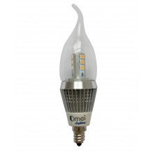 LED Candelabra Bulb Brightest Model 7 watt 6-Pcak Flame Tip Perfect incandescent chandelier bulb replacement E12 base light bulb