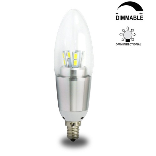 7 Watt Dimmable B35 Led Candelabra Light Bulbs E12 Candle Lamps 60w Incandescent Equivalent Energy Saving Chandeliers Cool White 6200k