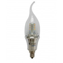 10-PACK Non-Dimmable LED Flame Tip Candelabra Bulb- Filament  5 Watt  450 Lumen E12 Base 2700K Indoor or Outdoor