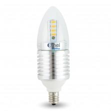 Dimmable 7W E12 LED Candelabra Bulb Chandelier Bulb Candle Bulb 60W Candelabra Bulbs Replacement 580 - 620 Lumens Cool White 5850-6520K