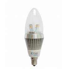 OmaiLighting 6-Pack Dimmable E12 LED Candelabra Bulb 6w 40watts Real 4w Warm White Bullet top Chnadelier Light bulbs