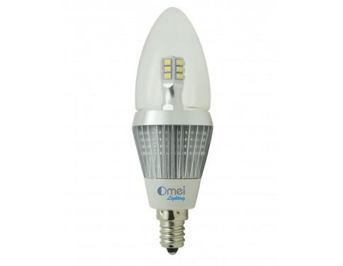 6 pack led candelabra bulbs dimmable e12 base led 5w 50 watt natural daylight. Black Bedroom Furniture Sets. Home Design Ideas